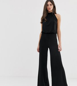 Read more about Flounce london tall high neck wide leg jumpsuit