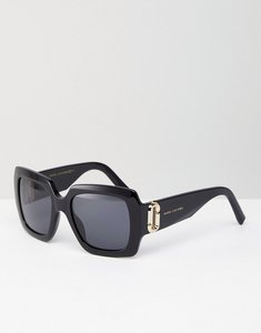 Read more about Marc jacobs square chunky frame sunglasses - black
