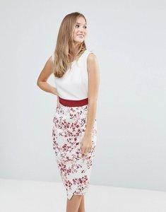 Read more about Closet multi floral drape skirt dress - multi