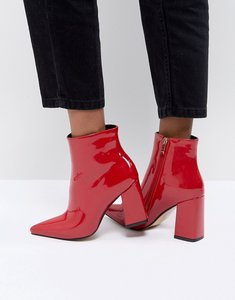 Read more about Public desire empire red block heeled ankle boots - red