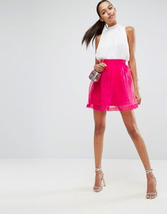 Read more about Asos mini prom skirt in organza - pink
