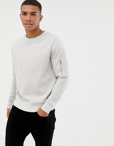 Read more about Brave soul crew neck military sweat - light grey oatmeal