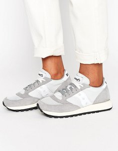 Read more about Saucony jazz original vintage trainers in grey white - grey white