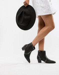 Read more about Faith bud studded heeled ankle boots - black