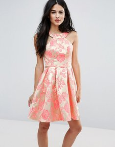 Read more about Forever unique printed pleated dress - jacquard rose