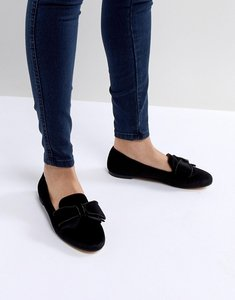 Read more about Office fortress bow flat shoes - black