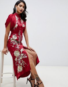 Read more about Asos edition embroidered maxi dress with dropped armhole