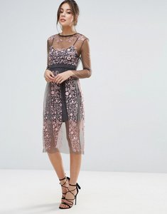 Read more about Little white lies stargazer embroidered dress - pink