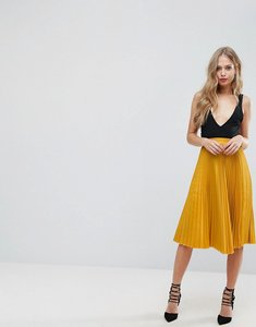 Read more about Outrageous fortune full pleated midi skirt - mustard