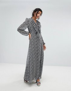 Read more about Lily and lionel 70s leopard maxi dress - nude leopard