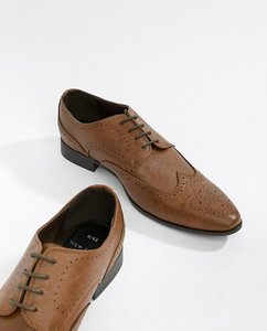 a604b397ddc188 Read more about New look faux leather brogue shoes in tan - tan