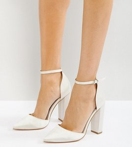 Read more about Asos penalty bridal pointed high heels - ivory