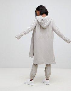 Read more about Adidas originals adibreak longline full zip hoodie in beige - brown