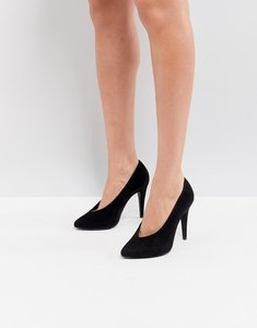 Read more about New look high vamp pointed court shoe - black