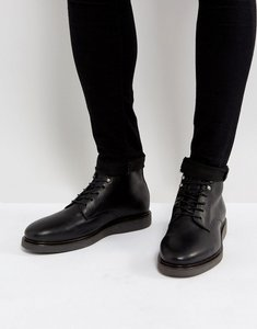 Read more about Hudson london aldford leather lace up boots - black
