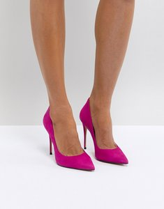 Read more about Aldo suede pink pointed shoe - pink
