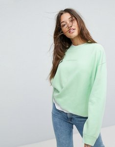 Read more about Calvin klein jeans sweatshirt with tonal logo - green ash