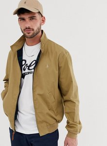 Read more about Polo ralph lauren baracuda player logo cotton harrington jacket in tan