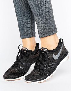 Read more about Nike training free tr focus flyknit trainers - black