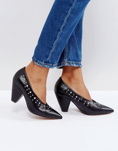 Read more about Asos smashing studded pointed heels - black
