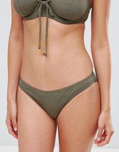 Read more about Pour moi textured bikini bottom - khaki