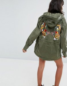 Read more about Ragyard daruma dragon patch m59 parka jacket - olive