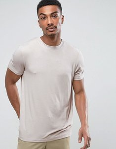 Read more about Asos t-shirt in fine drape viscose fabric in stone - stone