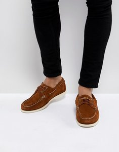 Read more about Polo ralph lauren bienne boat shoes suede in brown - snuff brown