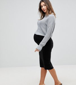 Read more about Asos maternity high waisted pencil skirt - black