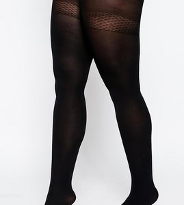 Read more about Asos curve skin firming support 120 denier tights - black
