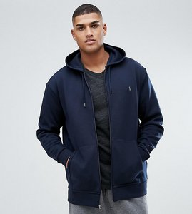 Read more about Polo ralph lauren tall zip through hoodie with pockets in navy - aviator navy