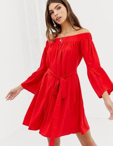 Read more about Glamorous off shoulder dress with belt