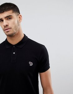 Read more about Ps paul smith slim fit zebra logo polo in black - 79