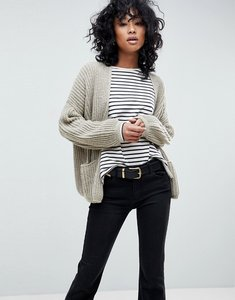 Read more about Asos oversized chunky cardigan - stone