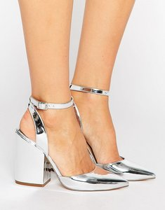 Read more about Asos pick n mix pointed heels - silver mirror