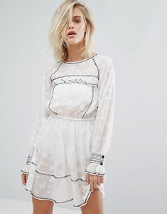Read more about Miss selfridge star jacquard dress - white