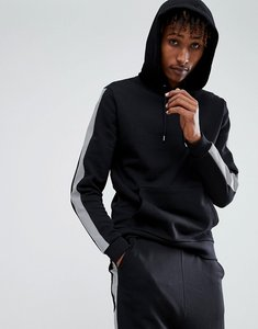 Read more about Asos hoodie with reflective taping - black