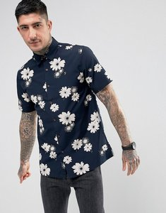 Read more about Farah tilbury casual fit floral short sleeve shirt navy - true navy 412