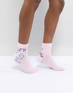 Read more about Asos design unicorn heel ankle sock - white