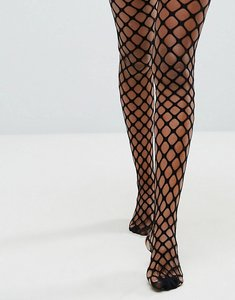 Read more about Asos sporty fishnet oversized tights - black