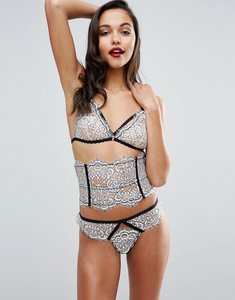 Read more about Asos premium maisie white lace corset waspie - white