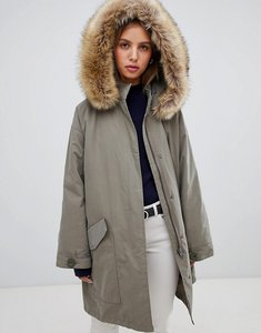 Read more about Asos design oversized parka with padded liner - khaki