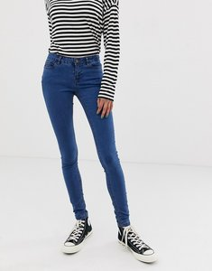 Read more about Noisy may low rise skinny jegging - medium blue