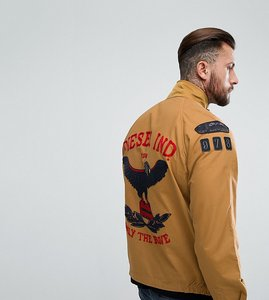 Read more about Diesel field jacket eagle embroidery - beige