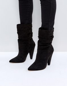 Read more about Asos emerson slouch heeled boots - black