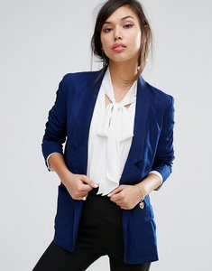 Read more about Fashion union relaxed fit blazer - navy