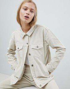 Read more about Dr denim cord girlfriend trucker jacket - buff beige
