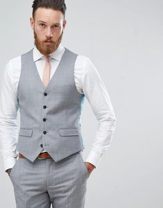 Read more about Harry brown winter wedding blue tonal skinny fit waistcoat - blue