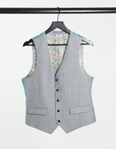 Read more about Harry brown wedding tonal skinny fit waistcoat - grey