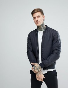 Read more about Penfield thurman quilted bomber jacket in black - black